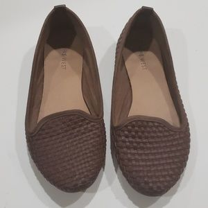 Nine West Brown Woven Flats Sz 6.5